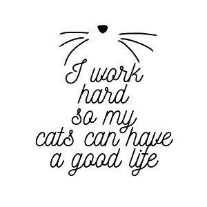 I Work Hard So My Cats Can Have A Good Life 6 Quot Vinyl Car Decal