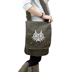 Majora's Mask Inspired Silhouette 14 oz. Authentic Pigment-Dyed Canvas Field Bag Tote
