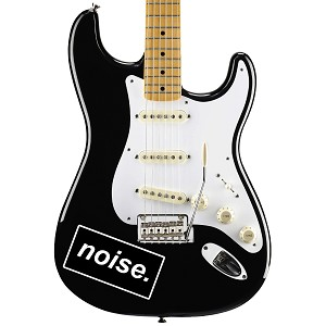 "Noise Guitar Instrument Pickguard Sticker  - 4"" wide x 2"" tall"