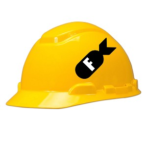 F Bomb Hard Hat Helmet Sticker