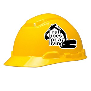 I Run Hoes For A Living Hard Hat Helmet Sticker