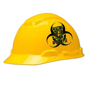 Waiting For The Zombie Apocalypse Hard Hat Helmet Sticker