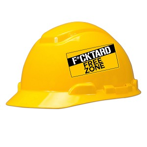F*cktard Free Zone Hard Hat Helmet Sticker