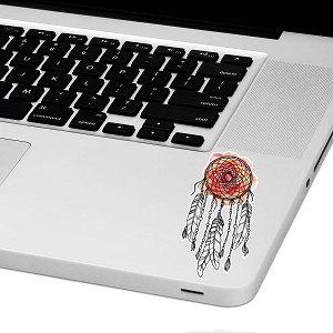 "Watercolor Dreamcatcher Laptop Trackpad Sticker 3"" tall x 1.6"" wide"