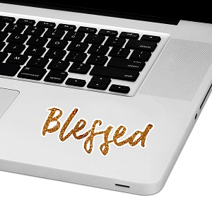 "Blessed Laptop Trackpad Sticker 1.5"" tall x 4"" wide"