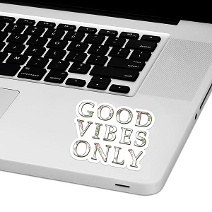 "Good Vibes Only Laptop Trackpad Sticker 3"" tall x 4"" wide"