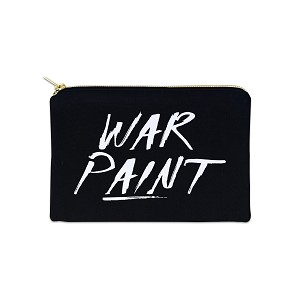 War Paint 12 oz Cosmetic Makeup Cotton Canvas Bag