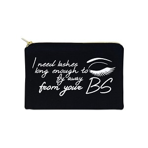 I Need Lashes Long Enough To Fly Away 12 oz Cosmetic Makeup Cotton Canvas Bag