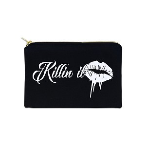 Killin It 12 oz Cosmetic Makeup Cotton Canvas Bag