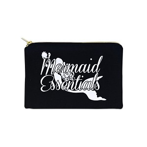 Mermaid Essentials 12 oz Cosmetic Makeup Cotton Canvas Bag