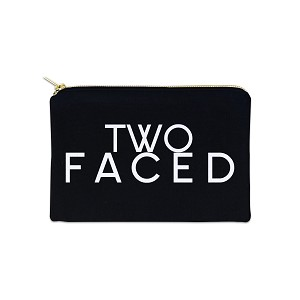 Two Faced 12 oz Cosmetic Makeup Cotton Canvas Bag