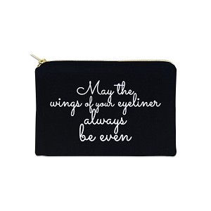 May The Wings Of Your Eyeliner Be Even 12 oz Cosmetic Makeup Cotton Canvas Bag