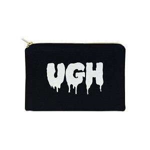UGH 12 oz Cosmetic Makeup Cotton Canvas Bag