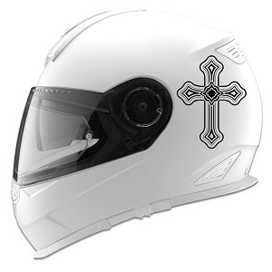 Tribal Cross Design Auto Car Racing Motorcycle Helmet Decal
