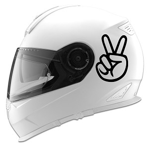 Peace Out Hand Sign Auto Car Racing Motorcycle Helmet Decal