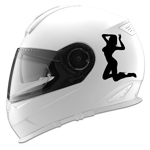 Sexy Girl On Knees Silhouette Auto Car Racing Motorcycle Helmet Decal
