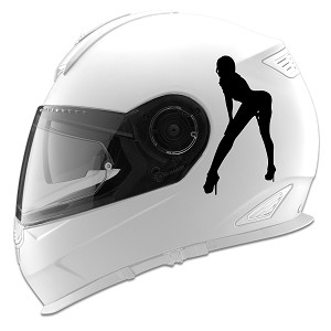 Sexy Bent Over Girl Silhouette Auto Car Racing Motorcycle Helmet Decal