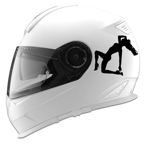 Sexy Girl Laying Down Silhouette Auto Car Racing Motorcycle Helmet Decal