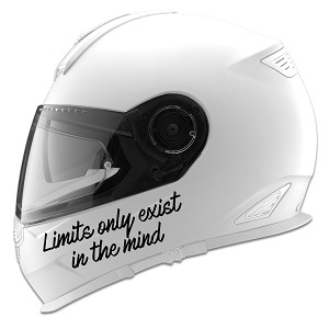 Limits Only Exist In The Mind Auto Car Racing Motorcycle Helmet Decal