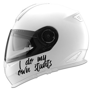I Do My Own Stunts Auto Car Racing Motorcycle Helmet Decal