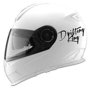 Drifting King Auto Car Racing Motorcycle Helmet Decal