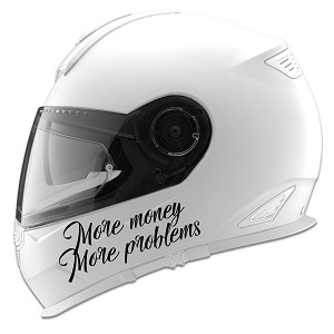 More Money More Problems Auto Car Racing Motorcycle Helmet Decal