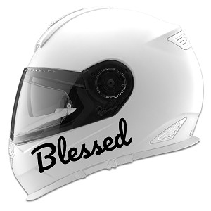 Blessed Auto Car Racing Motorcycle Helmet Decal