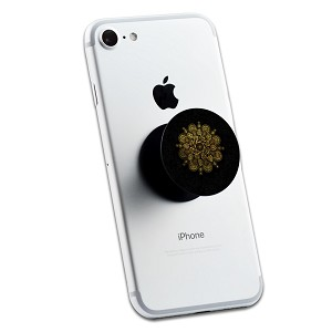 Black Gold Mandala 2 Sticker Set for Pop Grip Stent for Phones and Tablets (Stickers Only)