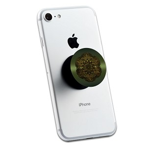 Green Gold Mandala 2 Sticker Set for Pop Grip Stent for Phones and Tablets (Stickers Only)