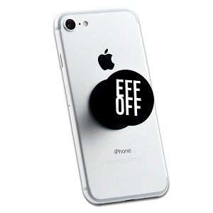 Eff Off Funny 2 Sticker Set for Pop Grip Stent for Phones and Tablets (Stickers Only)