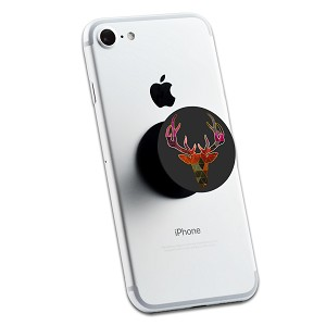 Mosaic Deer Head 2 Sticker Set for Pop Grip Stent for Phones and Tablets (Stickers Only)