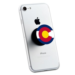 Colorado Flag Logo 2 Sticker Set for Pop Grip Stent for Phones and Tablets (Stickers Only)