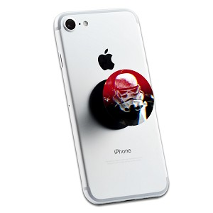 Red Storm Trooper Helmet 2 Sticker Set for Pop Grip Stent for Phones and Tablets (Stickers Only)