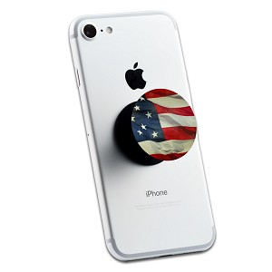Waving American USA Flag 2 Sticker Set for Pop Grip Stent for Phones and Tablets (Stickers Only)