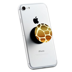 Gold Glitter Giraffe Print 2 Sticker Set for Pop Grip Stent for Phones and Tablets (Stickers Only)
