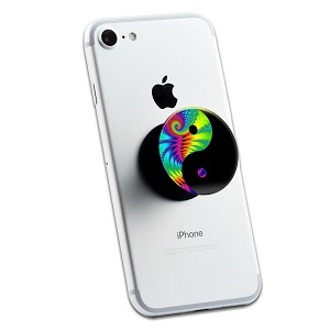 Tie Dye Yin Yang 2 Sticker Set for Pop Grip Stent for Phones and Tablets (Stickers Only)