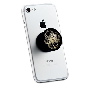 Vintage Gold Flower 2 Sticker Set for Pop Grip Stent for Phones and Tablets (Stickers Only)
