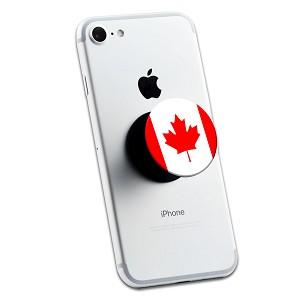 Canadian Flag 2 Sticker Set for Pop Grip Stent for Phones and Tablets (Stickers Only)