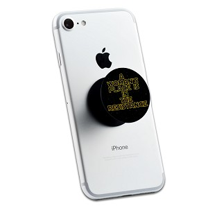 A Woman's Place Is In The Resistance 2 Sticker Set for Pop Grip Stent for Phones and Tablets (Stickers Only)