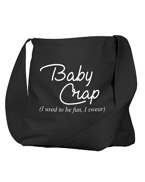 Funny Baby Crap I Used To Be Fun I Swear Black Canvas Satchel Bag
