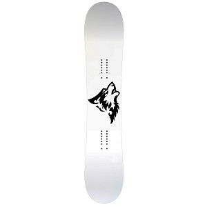 Howling Wolf Silhouette Snowboard Sticker All Weather Vinyl Decal