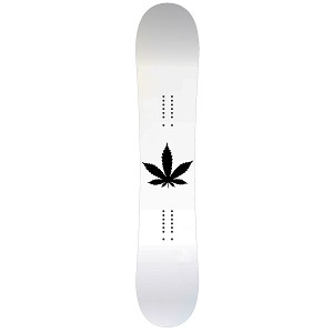 Pot Leaf Silhouette Snowboard Sticker All Weather Vinyl Decal