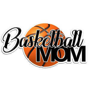 Basketball Mom Color Vinyl Sports Car Laptop Sticker - 6""