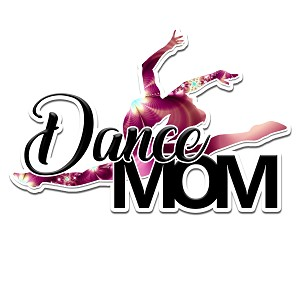Dance Mom Color Vinyl Sports Car Laptop Sticker - 6""