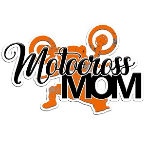 Motocross Mom Muddy Color Vinyl Sports Car Laptop Sticker - 6""
