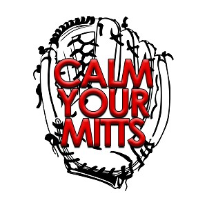 Calm Your Mitts Baseball Color Vinyl Sports Car Laptop Sticker - 6""