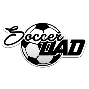 Soccer Dad Color Vinyl Sports Car Laptop Sticker - 6""