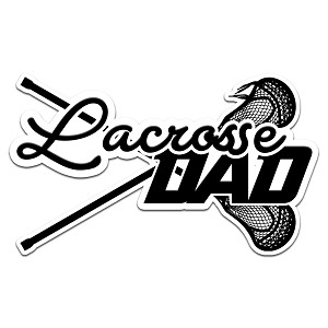 Lacrosse Dad Color Vinyl Sports Car Laptop Sticker - 6""