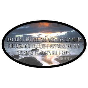 And Then I Met You Derek McDreamy Shepherd Quote Oval Sticker 5""