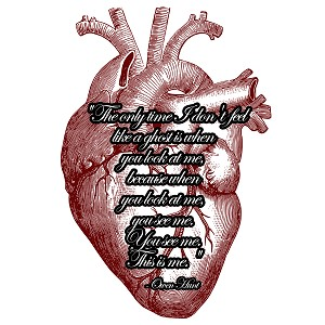 The Only Time I Don't Feel Like A Ghost Derek McDreamy Shepherd Quote Heart Anatomical Sticker 5""